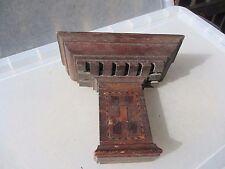 Vintage Wooden Sconce Shelf Display Rack Holder Shelve Candle Holder Old Inlay