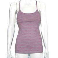 LULULEMON Sexy Y-Back Tank Top Heather Purple Gray Womens size 6 - 2072