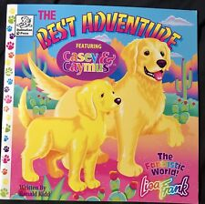 Vintage 1997 Lisa Frank The Best Adventure Casey & Caymus Dog Story Book