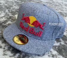 RED BULL  ATHLETE ONLY  HAT  - SIZE 7 5/8 - WOOL ICE GREY