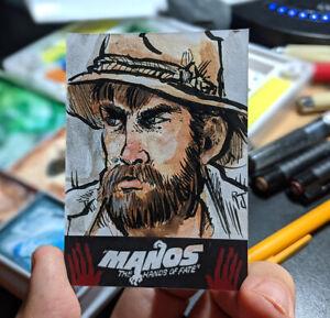 Original Art Sketch Card Manos The Hands Of Fate Torgo RRP Trading Cards