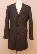$475 JCrew Ludlow Topcoat in Herringbone English Wool 40R Pewter SAMPLE 03358