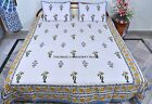 Queen Size Indian Bedspread Cotton Bed Cover Ethnic Throw With Pillow Cover