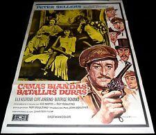1974 Soft Beds, Hard Battles ORIGINAL SPAIN POSTER Roy Boulting Peter Sellers