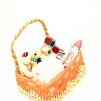 LN_ CN_ 1:12 Dollhouse Miniature Baby Bath Toy Basket Basket Model Pretend Toy