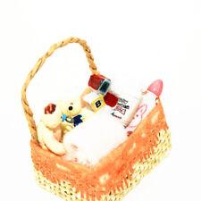 1:12 Dollhouse Miniature Baby Bath Toy Basket Basket Model Pretend Toys Healthy