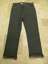 Levis VTG LVC 1919 USA Raw Rigid Spring Bottom Black Selvege Pantaloons Jean W34