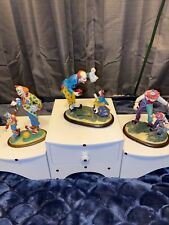 Lot of 3 Danbury Mint clown figurines Barnum's Classic Clowns by Francis Barnum