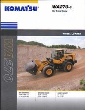 """Komatsu """"WA270-8"""" Wheel Tractor Loader Shovel Brochure Leaflet"""