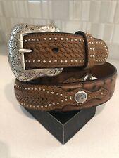 Nocona Men's Ostrich Overlay Belt Removable Buckle | Size 44