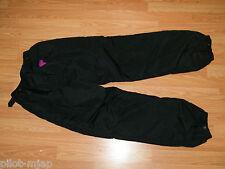COLUMBIA SPORTSWEAR  LADIES SNOW PANTS ~ M  1991 ~ SL8340 ~  BLACK WITH HOT PINK