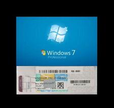 Microsoft Windows 7 Professional 64 Bit OEM Silver Scratch COA Zertifikat Key