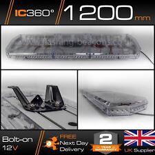"New LED Light Bar Amber Strobe Beacon Recovery - 120cm 1200mm 1.2m 48"""