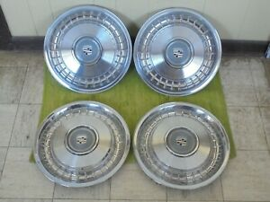 """79-93 Cadillac HUB CAPS 15"""" Set of 4 Wheel Cover Caddy Hubcaps"""