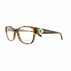 BVLGARI 4074-B 5268 TORTOISE Eyeglasses Frames 51-16-135 ITALY SWAROVSKI STONES