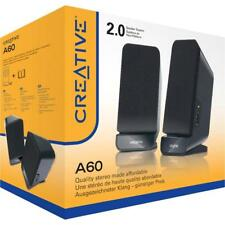 CREATIVE Speaker Set 2.0 SBS A60 Powered Quality Sound PC MAC 3.5mm MF1635  SALE