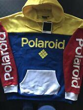 NWT Polaroid Mens Color Block Drawstring Hoodie Pullover Jacket Size XL