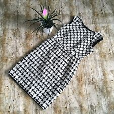 BEAUTIFUL HOBBS BLACK & CREAM DOGTOOTH CHECK WOOL EVENING DRESS 10