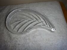 Waterford Crystal Leaf Trinket Dish Pin Dish Signed No Box