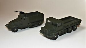DINKY TOYS militaires: camion Berliet Gazelle + Half-Track