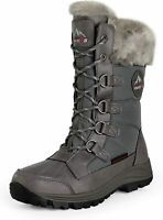 NORTIV 8 Women Insulated Waterproof Snow Boots Warm Faux Fur Lined Winter Boots