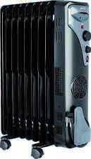 Ölradiator mit Gebläse Öl Radiator Elektroheizung 2000W 9 Rippen schwarz mobil