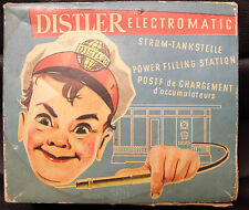 Distler Electromatic Power Filling Station, W. Germany, Battery Op, 1950  w/Box!