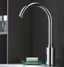 Bathroom Automatic Electronic Hands Free Cold Sensor Tap Faucet Chrome Finish