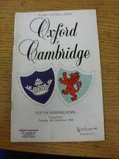 Programma di rugby 06/12/1988: Università di Oxford V Cambridge University [a T