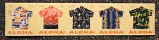 2012USA #4597-4601 32c Aloha Shirts - Plate Number Coil Strip of 5  Mint  PNC