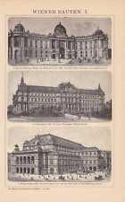 Wien Staatsoper Hofburg Justizpalast STICH von 1898 Palais des Fürsten Kinsky