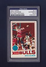 Artis Gilmore signed Chicago Bulls 1977 Topps basketball card Psa/Dna