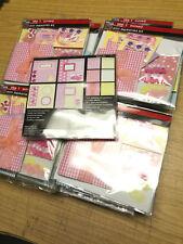 12 x Wholesale Joblot Mini Scrapbooking Baby Craft Stationery Gift Set Pink