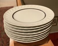 "Princess China ELEGANCE platinum 6 5/8"" Bread Plates Set of 8"