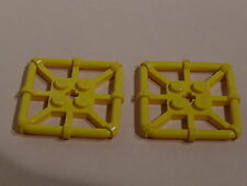 Lego plates carrees jaunes ajourees set 6559 6558  /plate with bar frame square