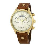 Movado 3650025 Heritage 38MM Women's Chronograph Brown Leather Watch