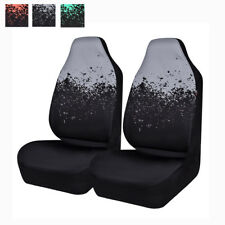 Universal 2 Front Car Seat Covers Gray Black Auto Protective For Van Truck Sedan