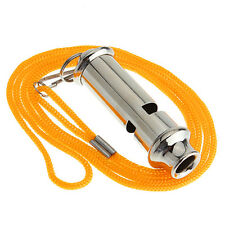 Whistle With Lanyard For Police Traffic Whistle Security Warning Portable