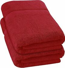 2 Pack Luxurious Jumbo Bath Sheet Soft Absorbent Cotton 35 x 70 In Utopia Towels