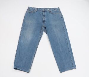 Vintage 90s Levis 550 Relaxed Fit Distressed Faded Denim Jeans Blue Mens 44x29