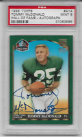 1998 Topps Hall of Fame - Autograph Issue Tommy McDonald  PSA 9 graded