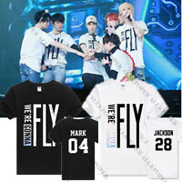KPOP GOT7 FLY IN SEOUL T-shirt Jackson Unisex Tee Cotton Mark JB Bambam Tops