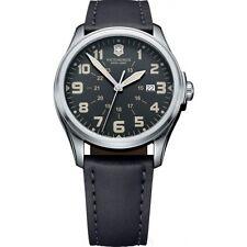 New Victorinox Swiss Army 241580 Infantry Vintage Black Dial Men's Watch