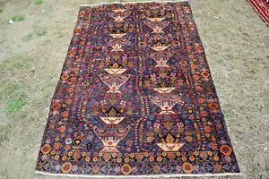 Stunning Guldan Flower pattern Tribal Nomadi Carpet,Beauiful Natural Vegetable D