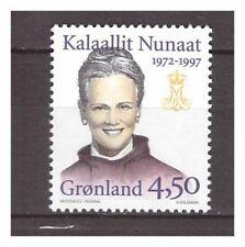 s19893) GREENLAND MNH** 1997 Margarethe silver jubilee 1v, normal paper(fr.bklt