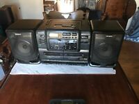 Sony CFD-550 Boombox CD/ Radio/Portable Dual Cassette Player Stereo
