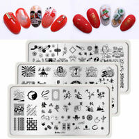 Harunouta Stamping Plates Flowers Animals Culture Nail Art Image Templates Tool