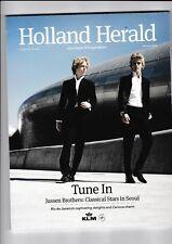 "KLM Inflight Magazine ""HOLLAND HERALD "" Bordmagazin Januar  2015 Jussen Brothers"