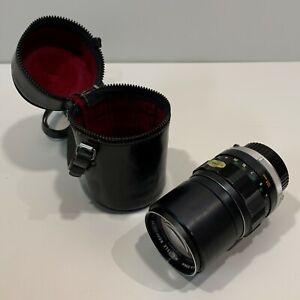 Minolta MC TELE ROKKOR-PF 1:28 f=135mm 1503916 and Original Black Leather Case