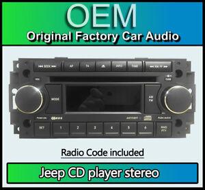 Jeep Patriot Lecteur CD , Jeep P05064067AE Voiture Stéréo Avec Code Radio